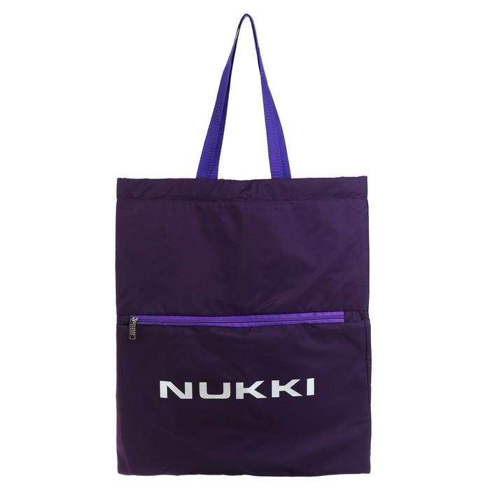 Сумка-рюкзак Nukki №63 51*41 см, баклажан