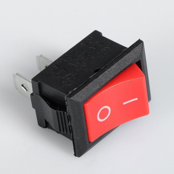 Выключатель клавишный без подсветки, красный
