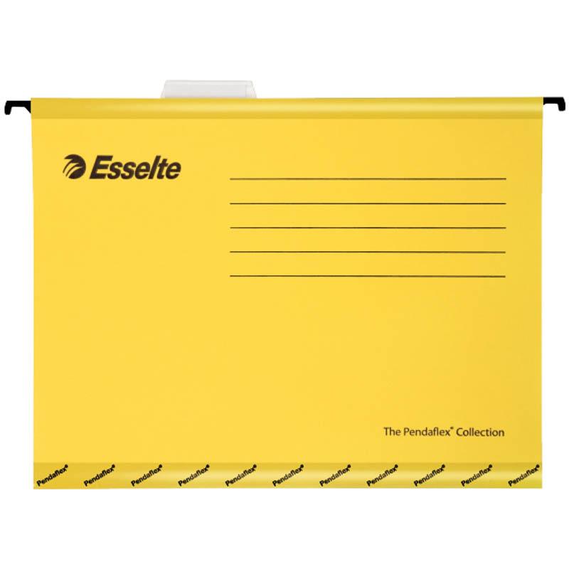 """Подвесная папка Esselte """"Pendaflex Standart"""", А4, картон, 205г/м2, желтая"""