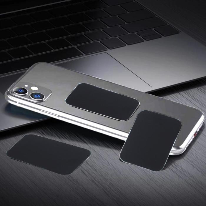 Пластина для магнитных держателей, 3.8?5 см, самоклеящаяся, черная
