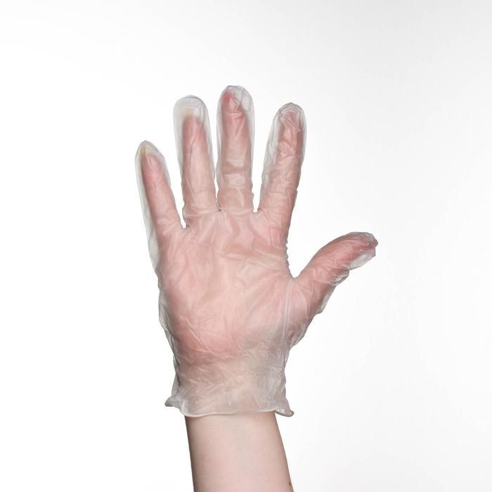 Перчатки хозяйственные виниловые, размер XL, 100 шт/уп, цена за 1 шт