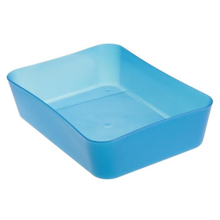 Лоток для канцелярских принадлежностей, малый «СТАММ», тонированный, голубой