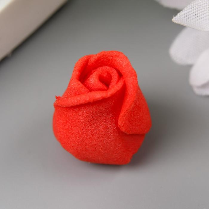 Розочка из фоамирана, красная d-1,5 см
