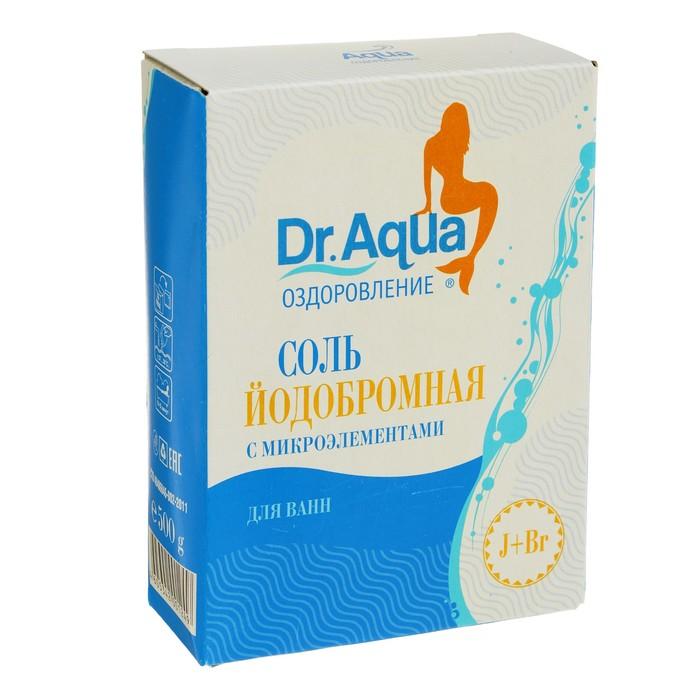 Соль морская для ванн Dr. Aqua, природная, йодобромная, 500 г