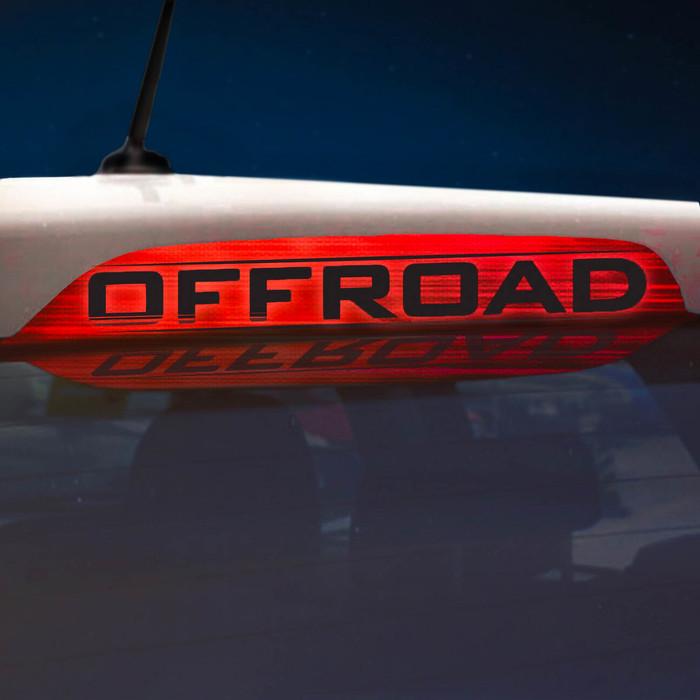 Наклейка на стоп сигнал на заднее стекло OFFROAD