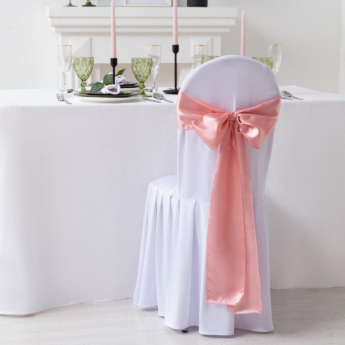 Декор для стула, цв.розовый, 14*275 см, 100% п/э