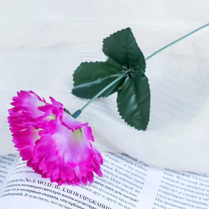"""Цветы искусственные """"Гвоздика 25 см, сиреневая"""