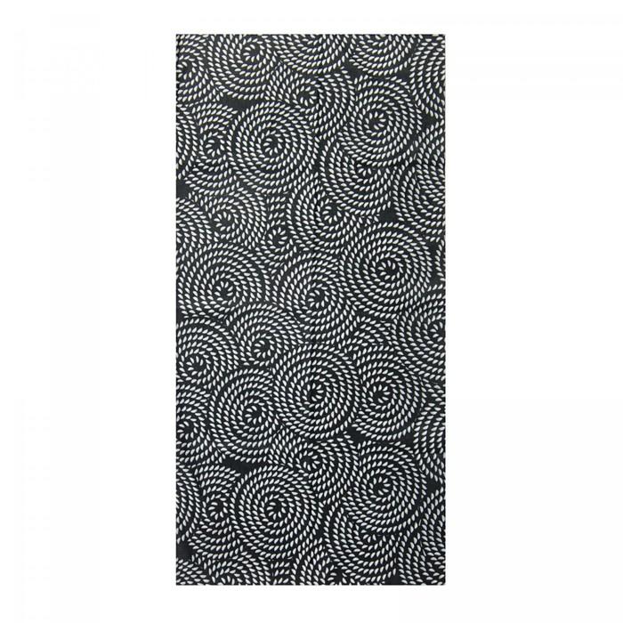 Повязка трикотажная, цвет чёрный, размер 24х49