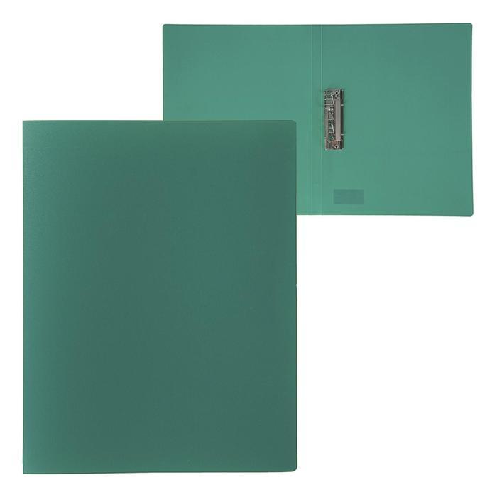 Папка с зажимом А4, 500 мкм, Calligrata, песок, зелёная