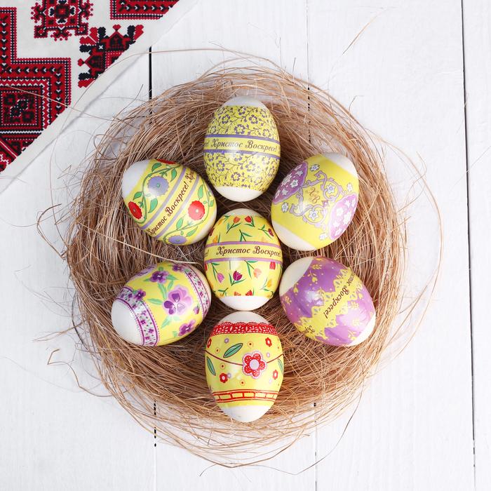 "Пасхальная термоусадочная плёнка ""Цветочный узор"" на 7 яиц"