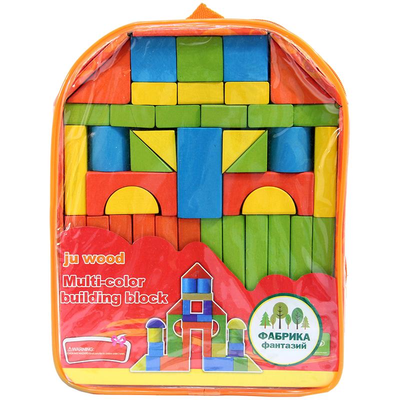 Конструктор деревянный Фабрика фантазий, 39 элементов, рюкзак