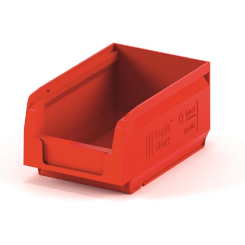 Лоток для склада logic store 165х100х75 красный (12.401)