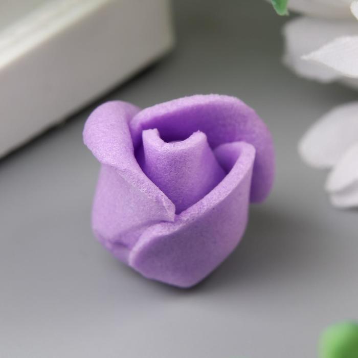 Розочка из фоамирана, фиолетовая d-1,5 см