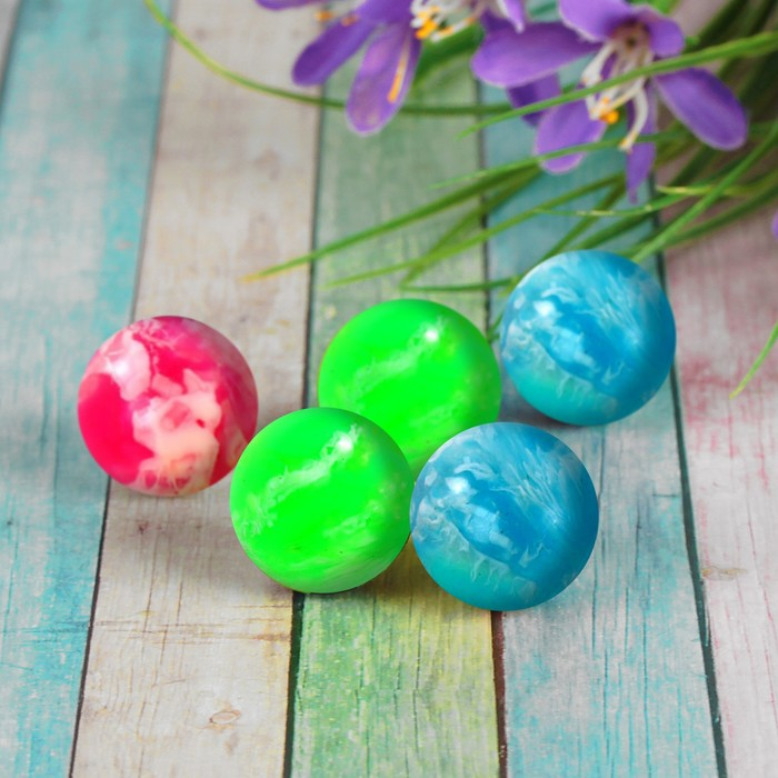 Мяч каучуковый, пёстрый, цвета МИКС
