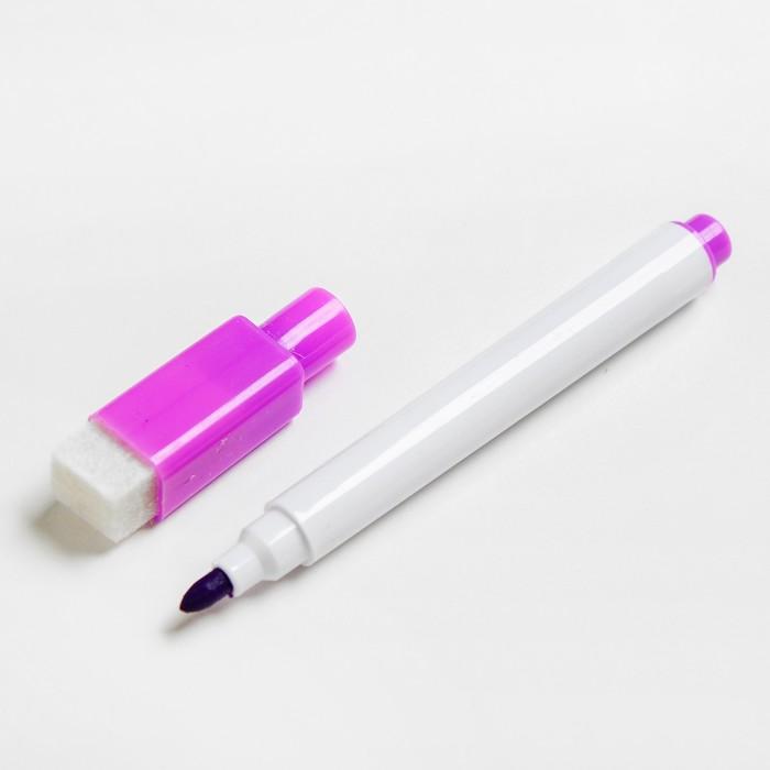 Маркер цветной на водной основе с губкой 2х1,5х11 см  фиолетовый