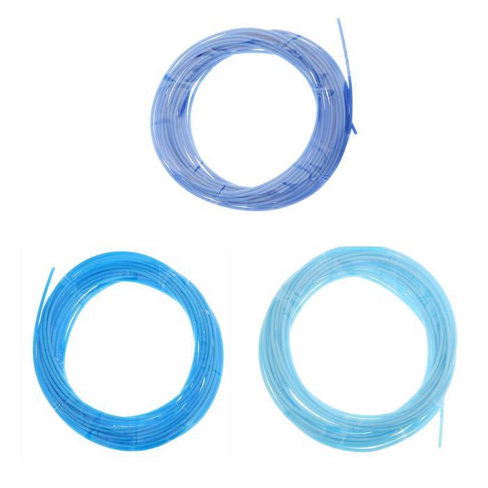 Пластик PCL для 3D ручки, длина: 5 м, цвета синего МИКС