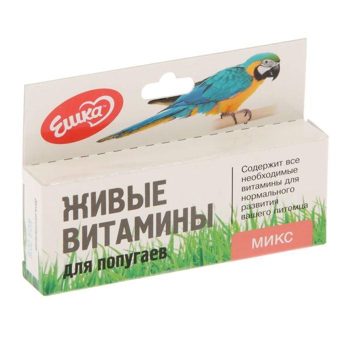 """Живые витамины """"Ешка Микс"""" для попугаев, овес, пшеница, ячмень, 20 г"""