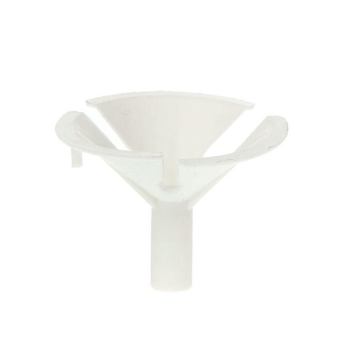 Держатель-зажим для шаров, отверстие 0,6 см, d=4,5 см, цвет белый