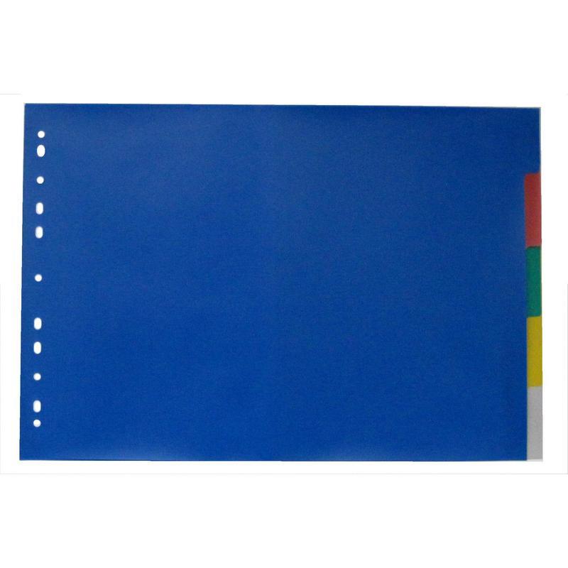 Разделитель листов А3 гориз., 5 цв. пластик, ATTACHE