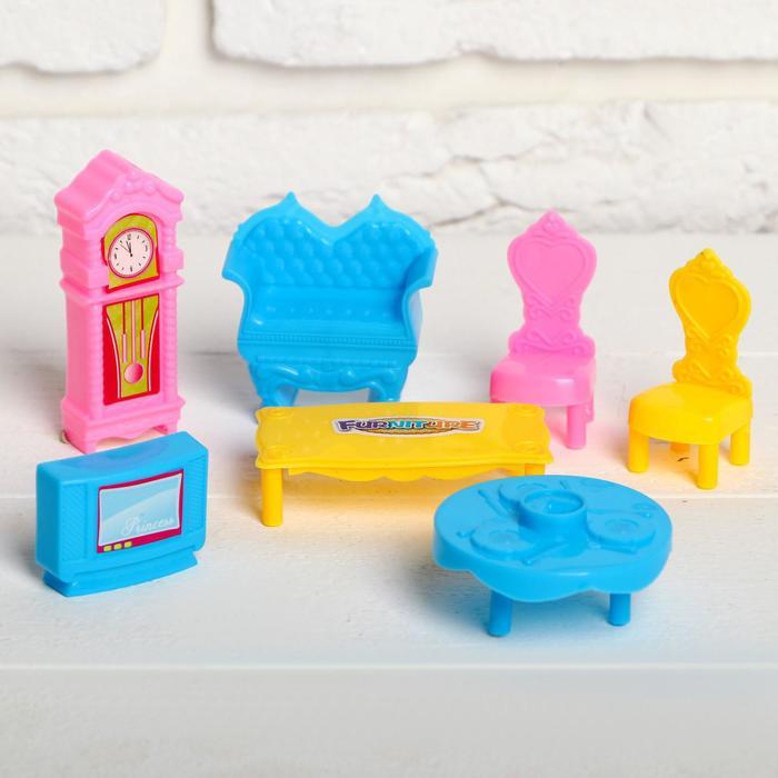 Мебель для кукол «Уютный дом», 7 предметов