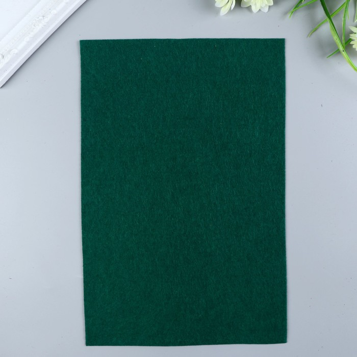 Фетр  мягкий  1 мм 20х30 см   т.зеленый