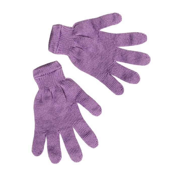 Перчатки женские, цвет сиреневый, р-р 18