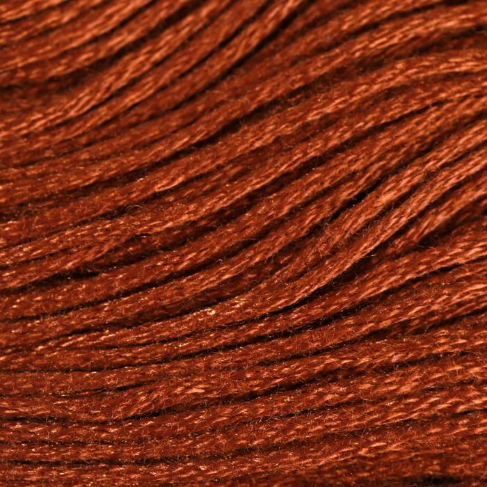 Нитки мулине, 8 ± 1 м, цвет коричнево-песочный №898