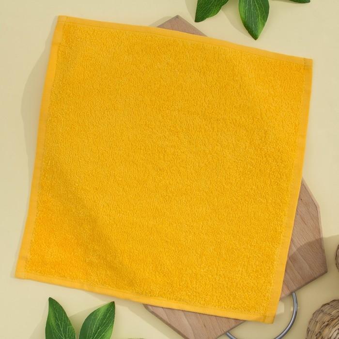 Салфетка махровая 30х30 см, ярко-желтый, хлопок 100%, 380 гр/м2
