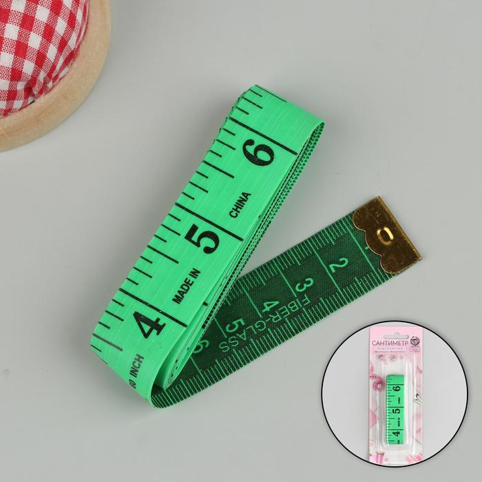 Сантиметровая лента, 150 см (см/дюймы), цвет МИКС