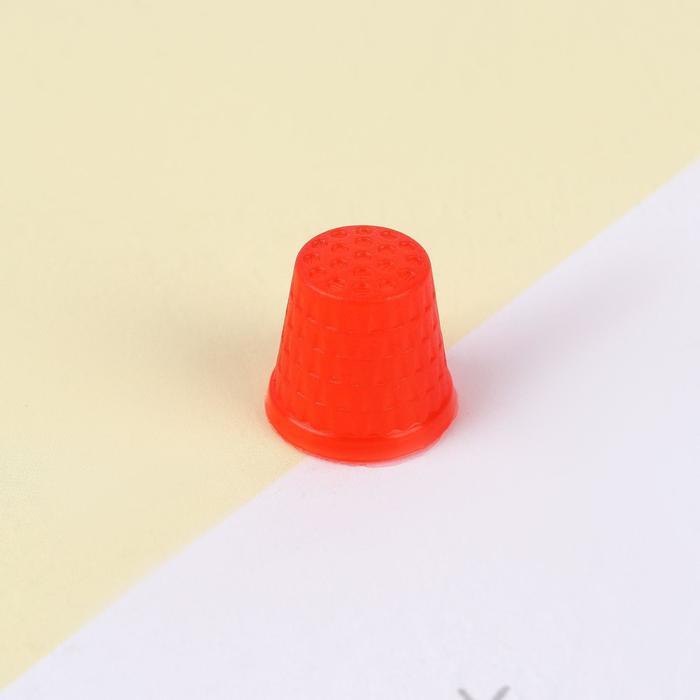 Напёрсток, d = 2 см, цвет красный