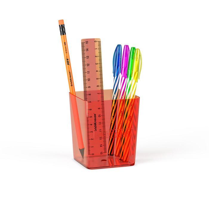 Набор настольный канцелярский 6 предметов ErichKrause Base, Neon, оранжевый