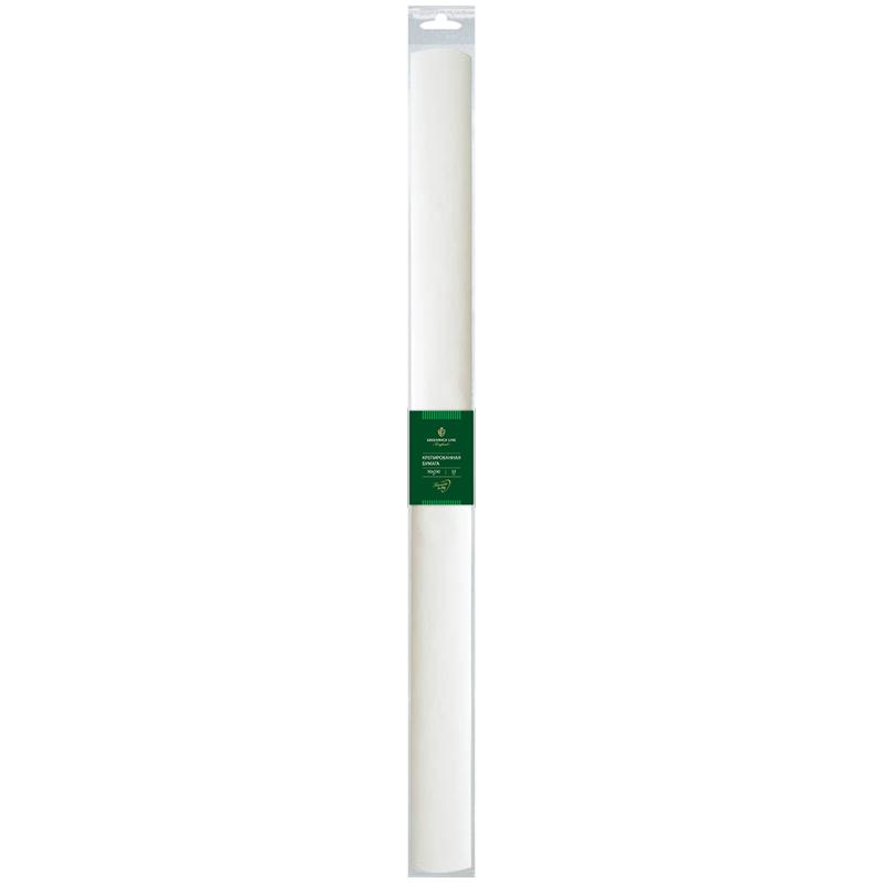 Бумага крепированная Greenwich Line, 50*250см, 32г/м2, белая, в рулоне, пакет с европодвесом