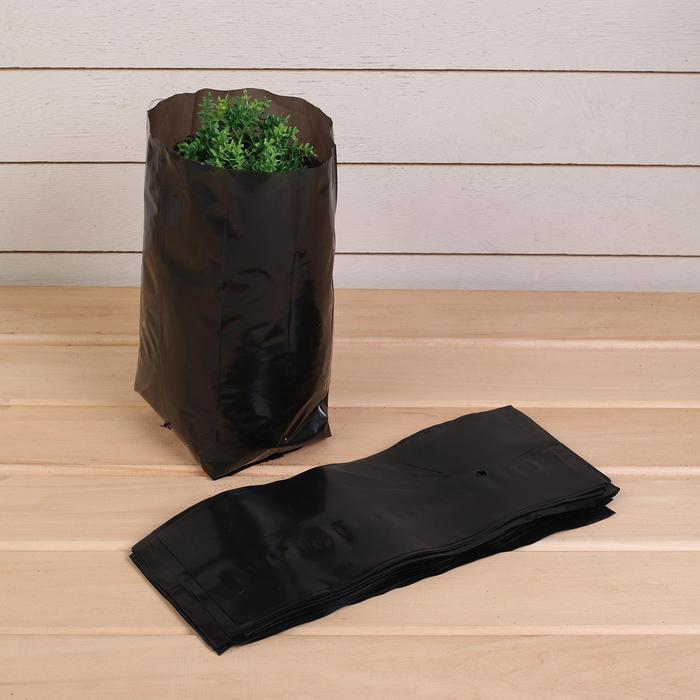 Пакет для рассады, 3 л, 11 ? 30 см, толщина 60 мкм, с перфорацией, чёрный