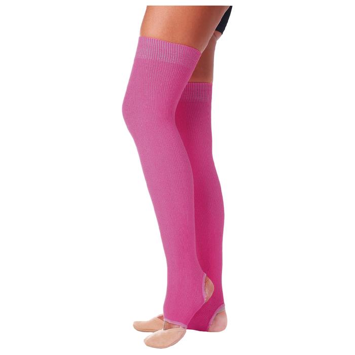 Гетры для танцев №5, без носка и пятки, L= 60 см, цвет фуксия