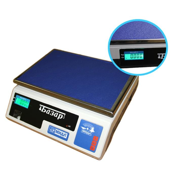 Весы фасовочные электронные МИДЛ МТ 30 ВЖА (5/10; 33x23) «Базар»