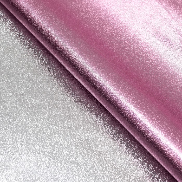 Плёнка с металлизированная, цвет розовый, 50 х 70 см