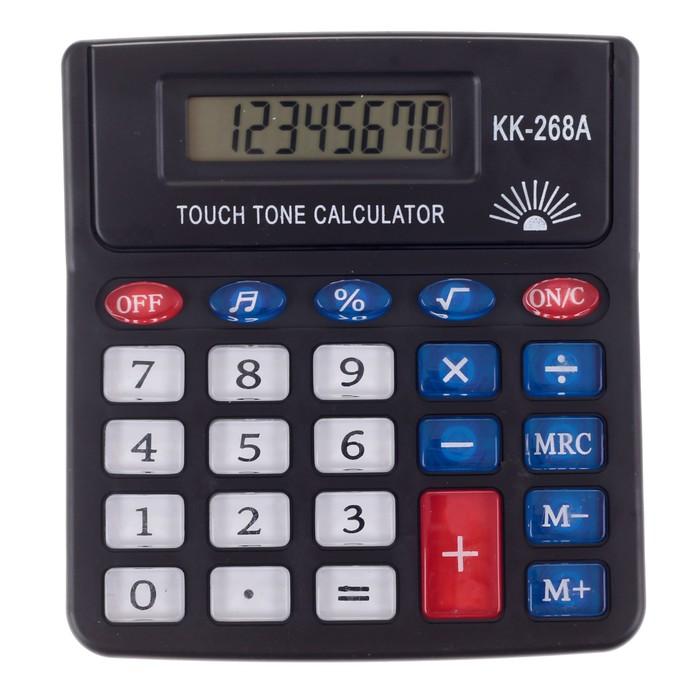 Калькулятор настольный, 8-разрядный, PS-268A, с мелодией