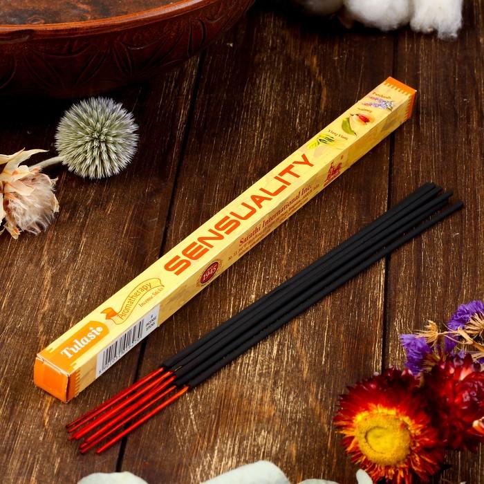 """Благовония  Sarathi """"Aromatherapy Sensuality"""", 8 палочек в упаковке, четырёхгранник"""