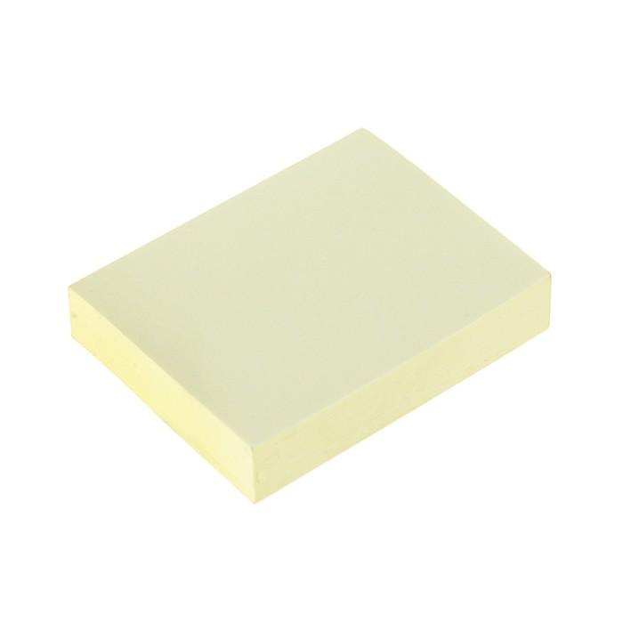 Блок с липким краем Hopax, 100 листов, 38 х 51 мм, жёлтый