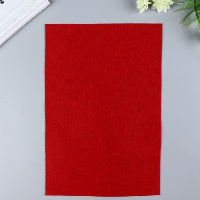 Фетр  мягкий  1 мм 20х30 см   т.красный микс