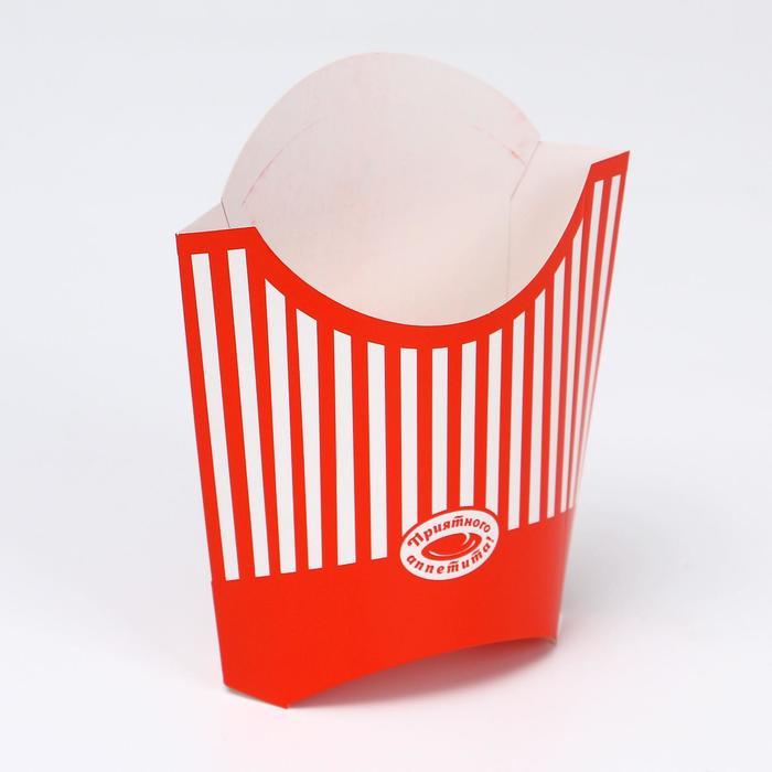Упаковка для картофеля фри 200 гр, с печатью