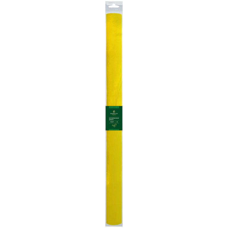 Бумага крепированная Greenwich Line, 50*250см, 32г/м2, желтая, в рулоне, пакет с европодвесом