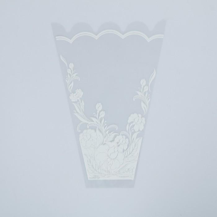 "Пакет для цветов конус ""Пион"" 24/35"