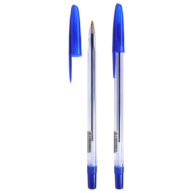 """Ручка шариковая Стамм """"111"""" синяя, 1,0мм, прозрачный корпус"""
