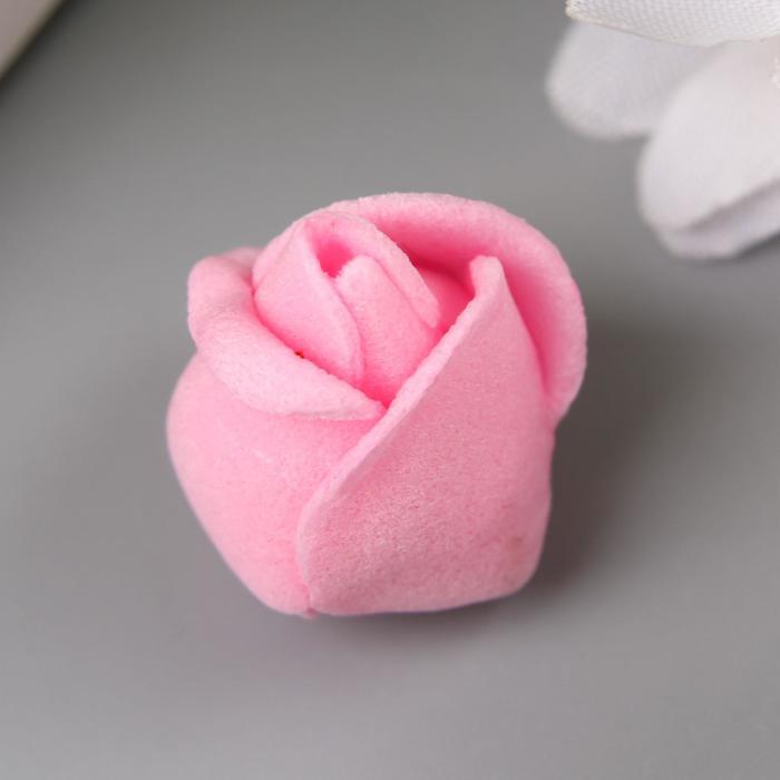 Розочка из фоамирана, розовая d-1,5 см