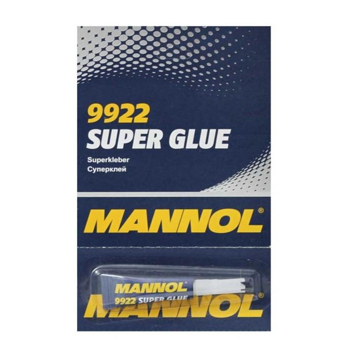 """Клей MANNOL, секундный, """"Super Glue"""" 3 гр"""