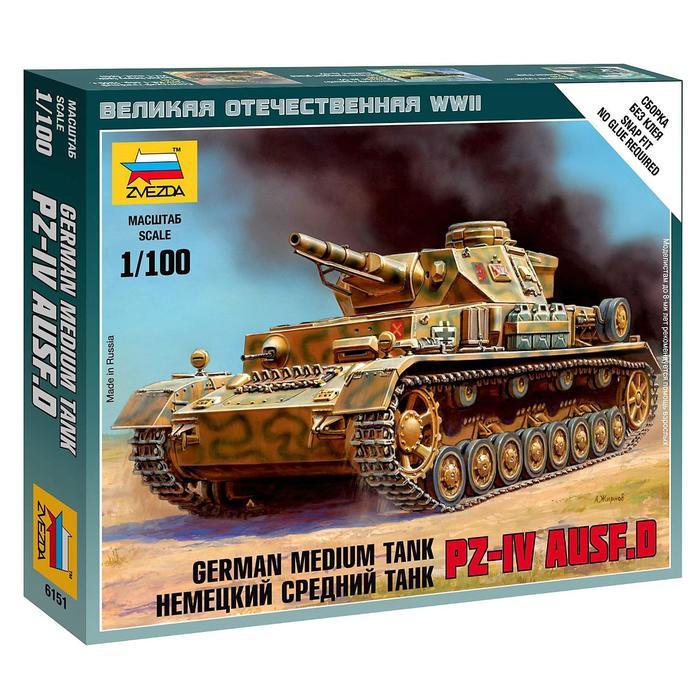 Сборная модель «Немецкий средний танк Т-IV»