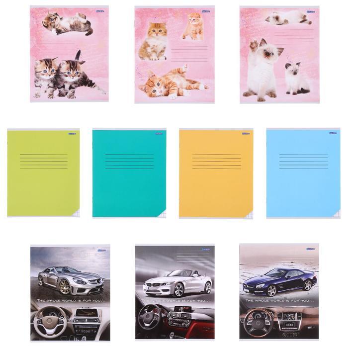 Брошюра для записей 12 листов в клетку «Микс», обложка мелованная бумага, второй блок
