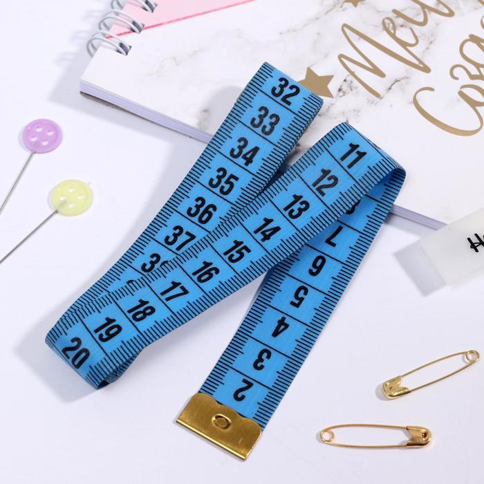 Сантиметровая лента в футляре, 150 см (см/дюймы), цвет МИКС