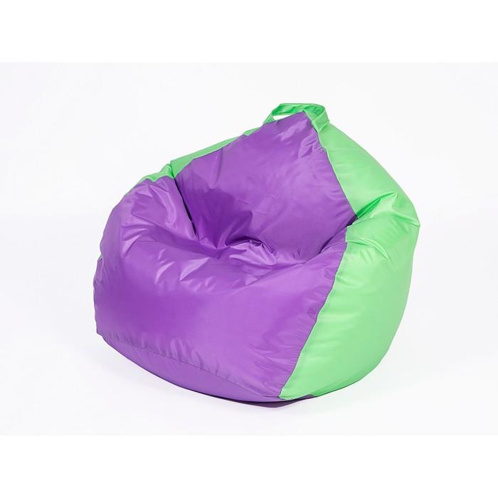 Кресло мешок «Кроха», ширина 70 см, высота 80 см, фиолетово-салатовый, плащёвка